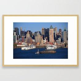 New York City Docks on the Hudson 2012 Framed Art Print