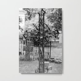 Pirita Cross (B&W) Metal Print