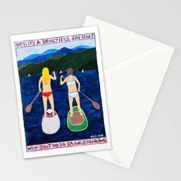 Let's Go Paddleboarding Stationery Cards