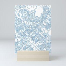 Street MAP Rome // Blue Mini Art Print