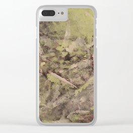 Touch of silver Clear iPhone Case