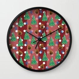 Winter festive feeling Wall Clock