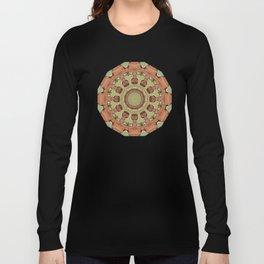 Rust-Mandala 712_R_2, Colors of Rust Long Sleeve T-shirt