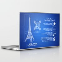 eiffel tower Laptop & iPad Skins featuring  Eiffel Tower by mewdew