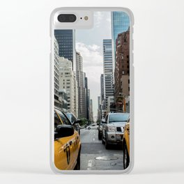 Taxis on New York City Street Clear iPhone Case