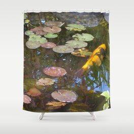 Koi Pond and Lilypads Shower Curtain