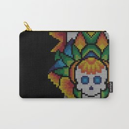 Muerte Huichol Carry-All Pouch
