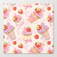 cupcakes Canvas Prints featuring Cupcakes by Julscela