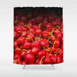 cherries pattern hvhdstd Shower Curtain