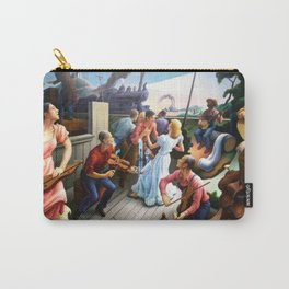 Classical Masterpiece 'The Sources of Country Music' by Thomas Hart Benton Carry-All Pouch