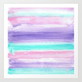 Tranquil Watercolor Wash Art Print