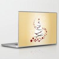 christmas tree Laptop & iPad Skins featuring christmas tree by Li-Bro