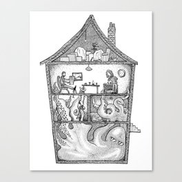 The Monster in the House Canvas Print