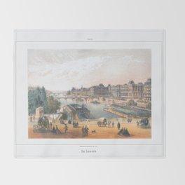 Paris art print Paris Decor office decoration vintage decor LAC BOIS BOULOGNE of Paris Throw Blanket