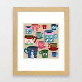 Fa La La La Latte Framed Art Print