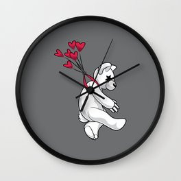 Swept Away Bear Wall Clock