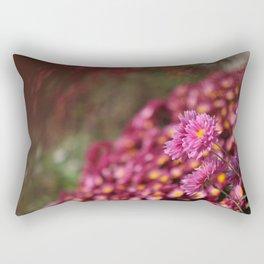 Colorful Pink Flowers Rectangular Pillow