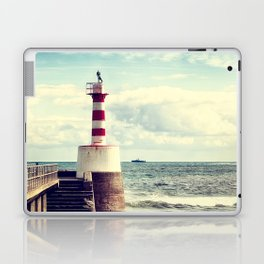 Amble Pier Lighthouse Laptop & iPad Skin
