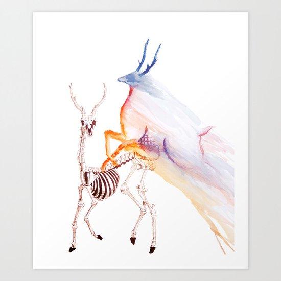 Oh deer skeleton #2 Art Print