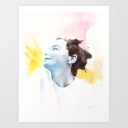 Splash Bjork Art Print