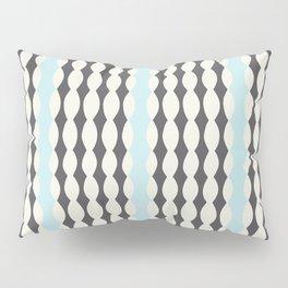 Nostalgic Brighton Stripes in Charcoal/Sky Pillow Sham