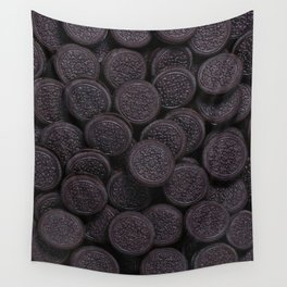 Oreo Cookie Pattern Illustration Wall Tapestry