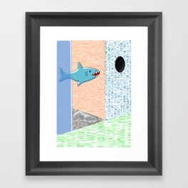 Sharkey Framed Art Print