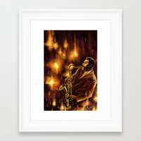 jazz Framed Art Prints featuring Jazz by Linarts