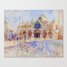 "Auguste Renoir ""The Piazza San Marco, Venice"" Canvas Print"
