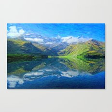 Abstract Andean Landscape Canvas Print