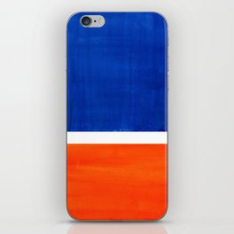 Colorful Bright Minimalist Rothko Orange And Blue Midcentury Modern Art Vintage Pop Art iPhone Skin