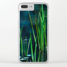 Green lake grasses Clear iPhone Case