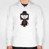 vendetta Hoodies featuring Vendetta by Sombras Blancas Art & Design
