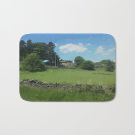 country landscape Holmfirth Bath Mat