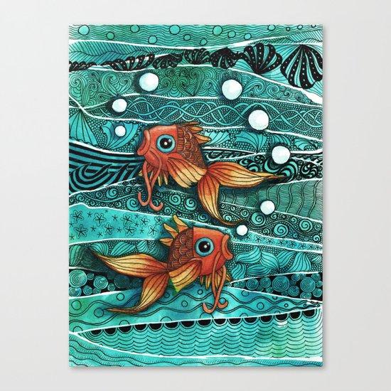 Baby Koi Tangle 2 Canvas Print