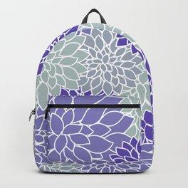 Periwinkle Grayish Blue Dahlias Backpack