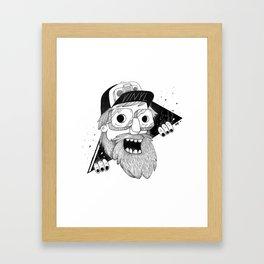 Vinyl head Framed Art Print