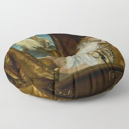 "Sir Lawrence Alma-Tadema ""The Meeting of Antony and Cleopatra"" Floor Pillow"