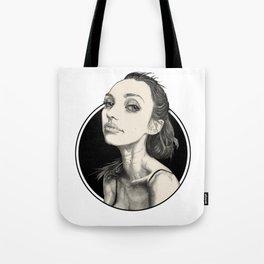 Arina Black Circle Tote Bag