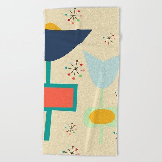 Mid Century modern #1 Beach Towel