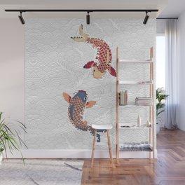 koi fish bold graphic Wall Mural