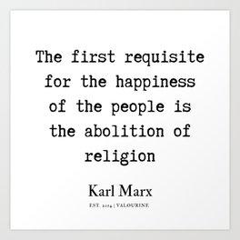 65  | Karl Marx Quotes | 190817 Art Print