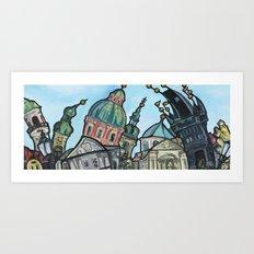View From Charles Bridge Art Print