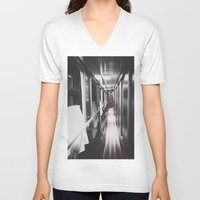 train V-neck T-shirts featuring Train by Lama BOO