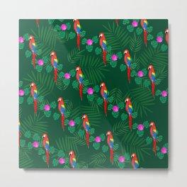 Emerald Parrots Metal Print