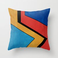road Throw Pillows featuring Road by Nope