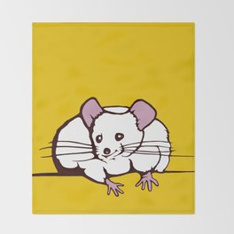 Fat mouse Throw Blanket