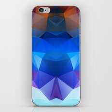 Abstract geometric polygonal pattern inih and pink tones . iPhone & iPod Skin