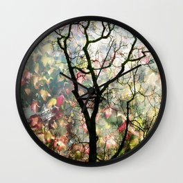 Passing Through, While looking for you Wall Clock