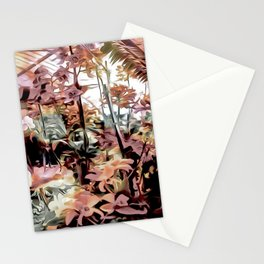 Sepia Greenhouse Orchids Stationery Cards